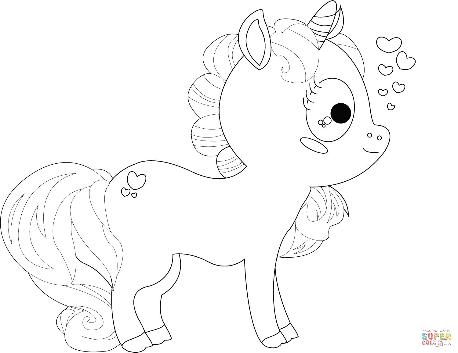 Coloring Pages Of Baby Unicorns at GetColorings.com   Free ...