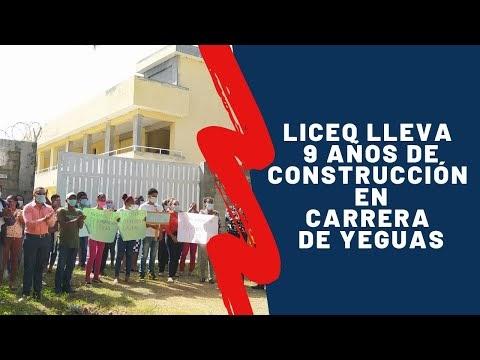 Piden terminación de un liceo en Carrera de Yeguas; lleva 9 años de construcción