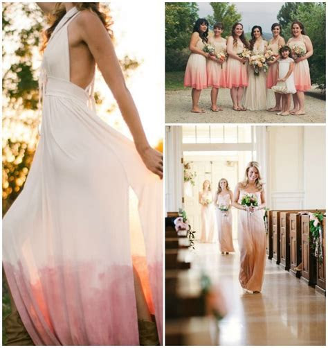 Style Crush: Dip Dye Wedding Dresses   DIY Instructions