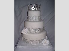 Wedding Cakes with Bling     12) fondant covered with gumpaste rose and faux rhinestone