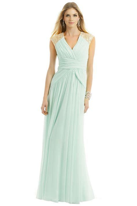 Badgley Mischka Mint Dream Gown. Rent the runway. Mint