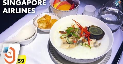 [M9] #59: Cháo cá trứng bắc thảo trên hạng thương gia Singapore Airlines | Yêu Máy Bay