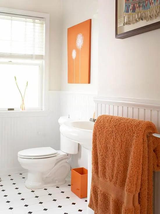 31 Cool Orange Bathroom Design Ideas - DigsDigs