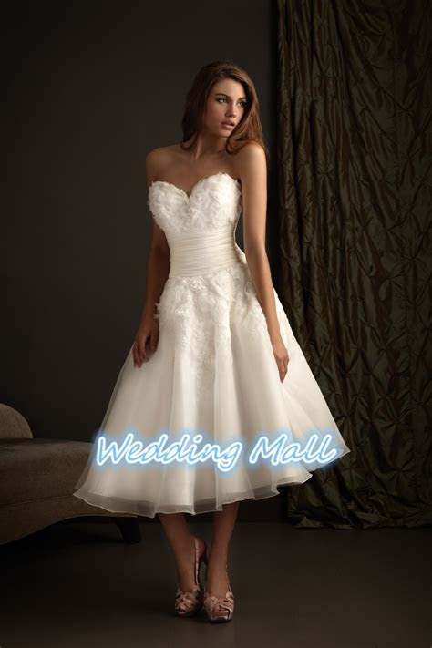 Fashion Short Wedding Dress Plus Size A Line Sweetheart