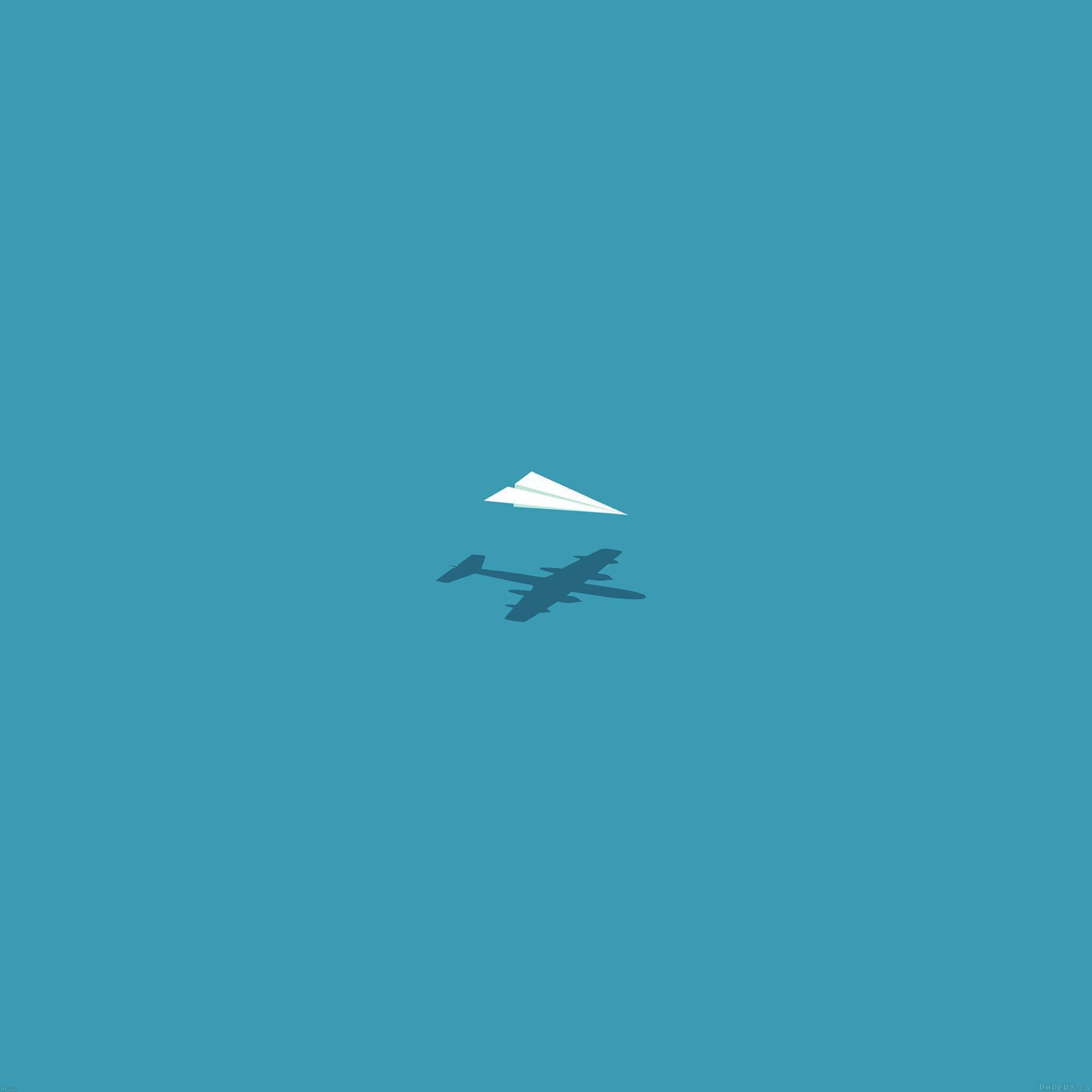 af22-rc-plane-minimal-blue-art-illust-cute - Papers.co