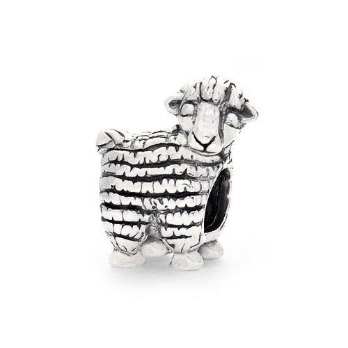 Bling Jewelry Antique 925 Sterling Animal Charm Sheep Bead Pandora Compatible: Jewelry
