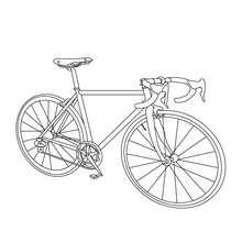 Dibujos Para Colorear Una Bicicleta De Carrera Eshellokidscom