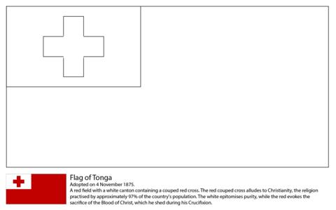 Dibujo De Bandera De Tonga Para Colorear Dibujos Para Colorear