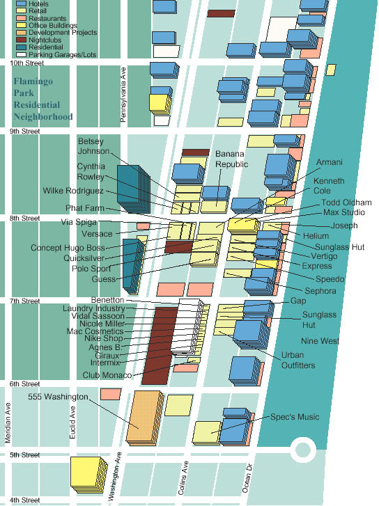 27 map of south beach miami hotels - maps database source