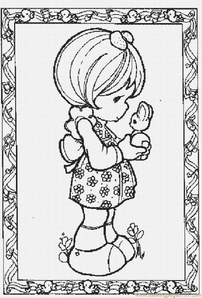 Moments 3 Lrg Coloring Page Free Precious Moments Coloring Pages