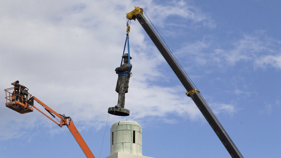 Image result for removing lee statue