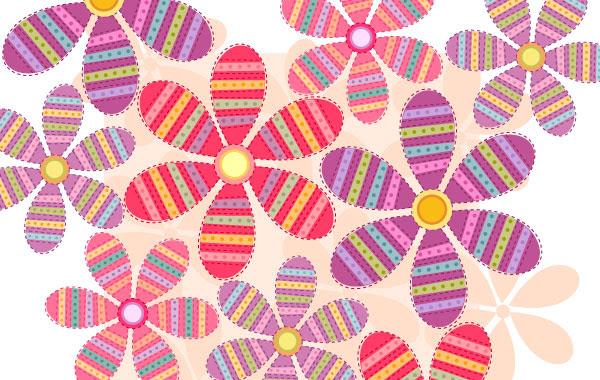 おしゃれな花の背景の無料イラスト ベクターai 無料イラスト