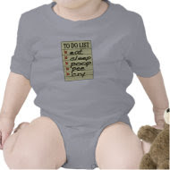 Baby to do list shirt