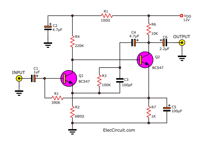 microphone echo circuit diagram circuit diagram images echo mic mixer circuit diagram Super Star DM-452 Echo Mic