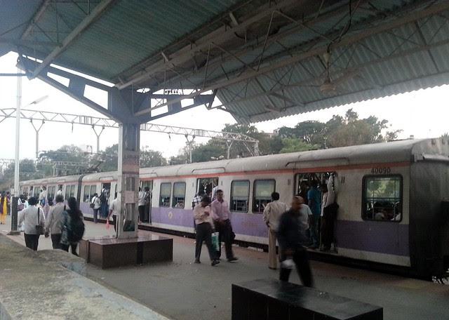 Lonavala Pune Local at Talegaon Railway Station