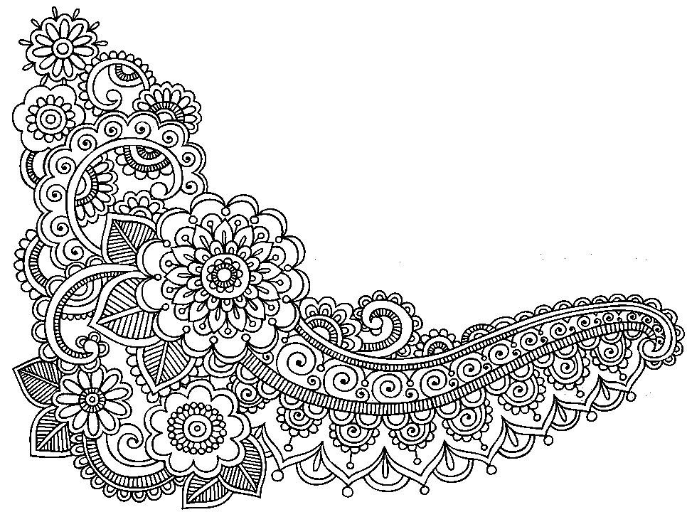Dibujo Para Colorear Relajante Tatuajes Flores 10