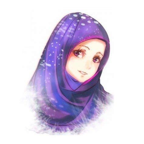 pilihan gambar kartun muslimah cantik  gambar kartun
