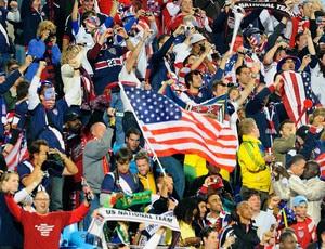 Torcida dos Estados Unidos na Copa da África do Sul (Foto: Getty Images)