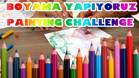 ali emir resim ve boyama yapiyor painting challenge