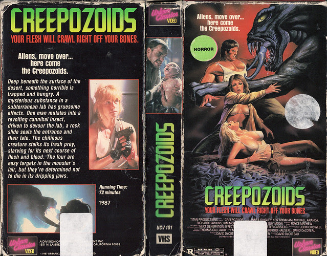 CREEPOZOIDS (VHS Box Art)