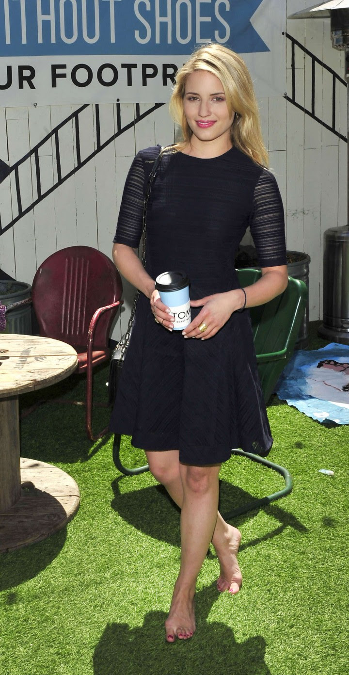 Dianna Agron – TOMS to Go One Day Without Shoes 2014 -06
