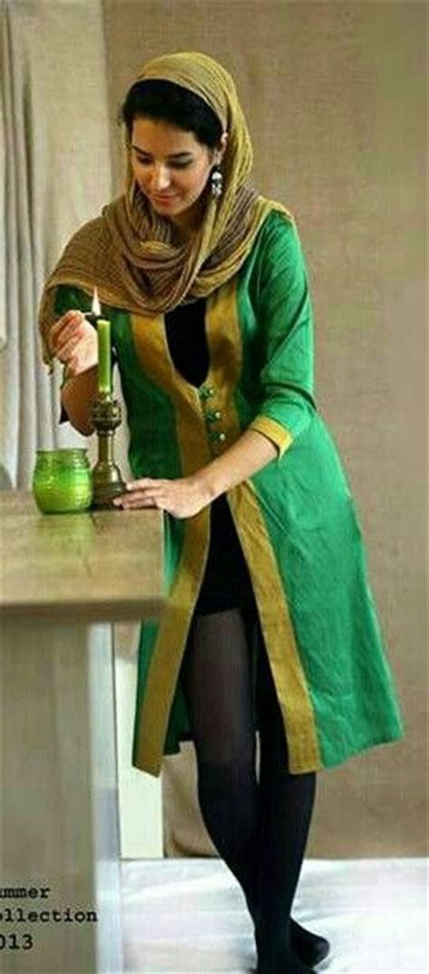 Iranian Women Midi Dresses with Jeans and Legging