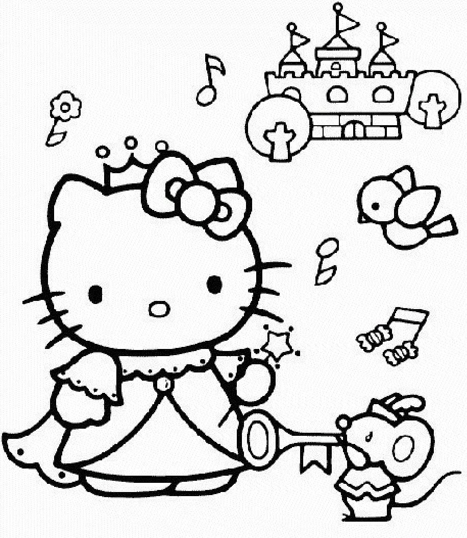 Disegni Da Colorare Hello Kitty Principessa Coloradisegni