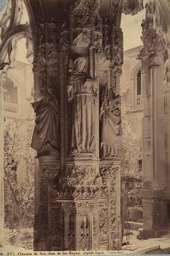 Claustro de San Juan de Los Reyes en el siglo XIX. Fotografía de Jean Laurent. Frances Loeb Library, Graduate School of Design, Harvard University. H. H. Richardson Collection