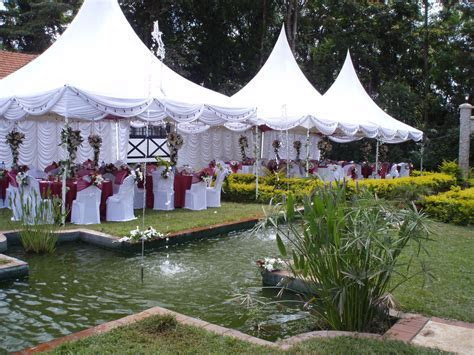 Wedding reception set up ,Tents with backdrops , table