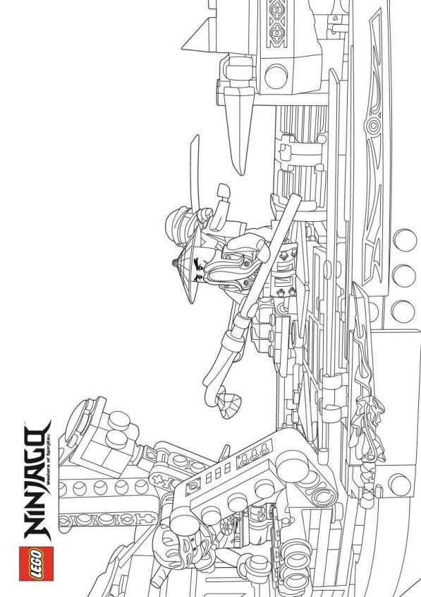 3 new ausmalbilder ninjago flugschiff