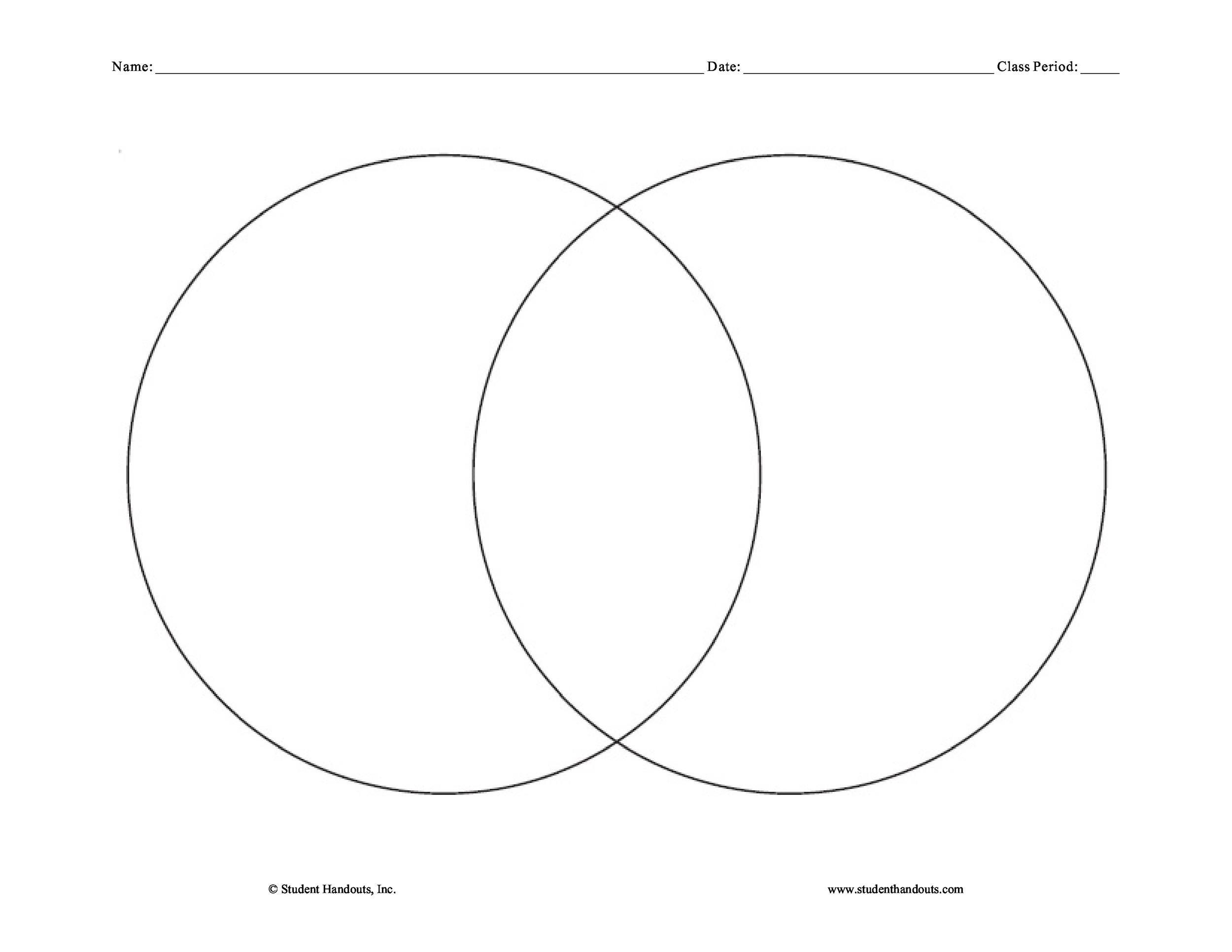 Venn Diagram Printable Free That are Adaptable   Kim Website