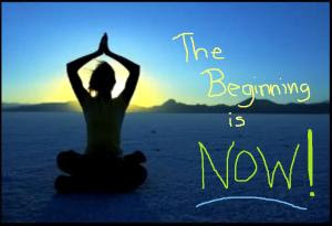 The Beginning Is Now - yoga at sunrise