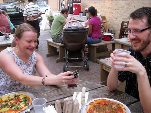 Craig and I at Pizzeria Piccola