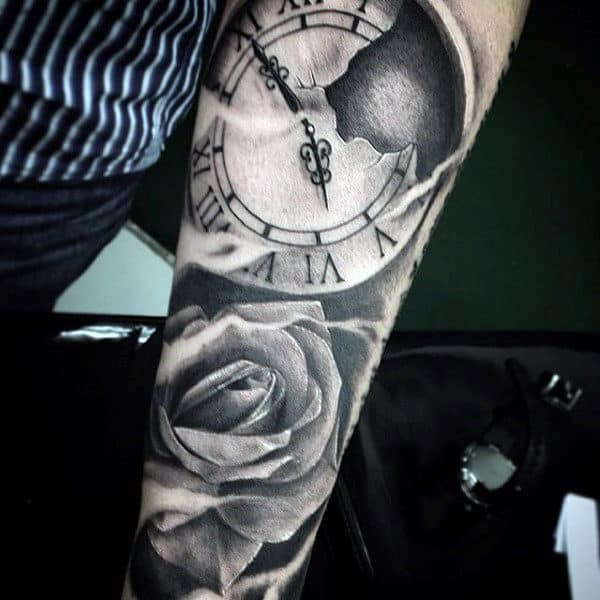 50 Flower Tattoos For Men A Bloom Of Manly Design Ideas