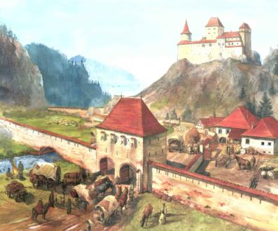 Castelul Bran - reconstituire