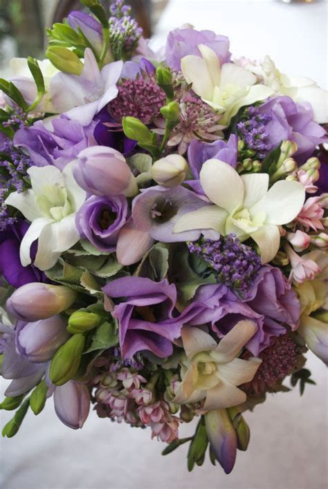 Claire & Anthony: Purple wedding flowers at Etrop Grange