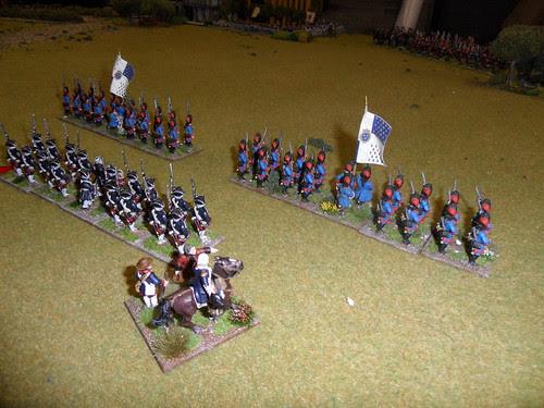 French Grenadiers mark British advance