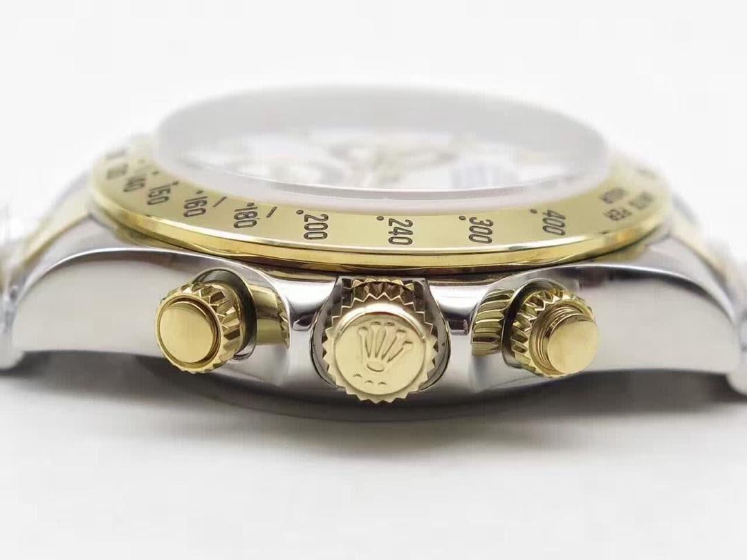 Replica Rolex Daytona Chronograph Buttons Gold