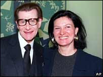 Paloma Picasso and Yves Saint Laurent, January 2000