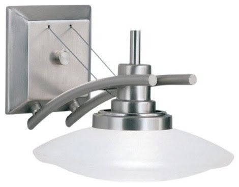 Kichler Structures Bathroom Sconce - 9W in. Brushed Nickel ...