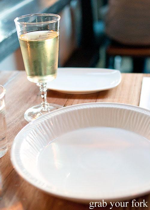 white wine at buffalo dining club darlinghurst