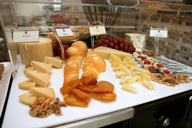 The cheese section offers Provolone, Scarmoza, Pecorino and Gorgonzola