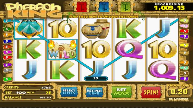 King pharaoh царь фараон игровой автомат бонус baltbet