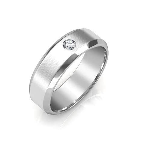 The James Platinum Ring For Him   Diamond Jewellery at