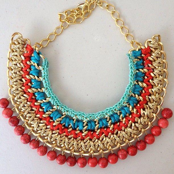 #jewelry #style #cadenas #moda #accessories  #colors #necklaces #fashion #maxicollar#estilo#locura propia#
