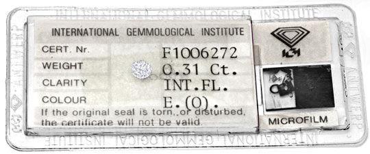 Foto 1, Diamant, IGI, 0,31ct Lupenrein, Hochfeines Weiss Juwel!, D5781