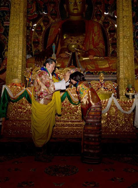 King of Bhutan kissing his bride 21 year old student