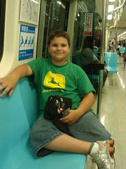 Sam on the Taipei MRT