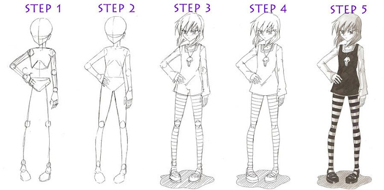 Beginner Anime Girl Drawing Easy Full Body