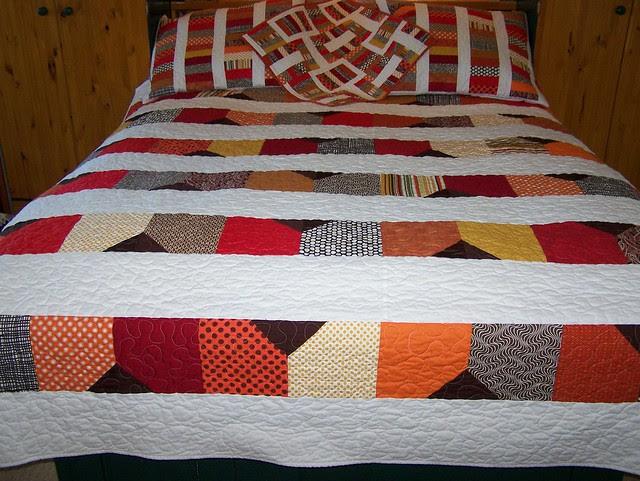 Custom Queen Dream On in Red Orange Brown